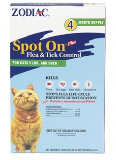 NEW Zodiac Spot On Flea and Tick Control Prevention Health for Cats Kittens Pets Flea Control For Cats, Deer Ticks, Tick Control, Cat Coloring Page, Flea Treatment, Cats For Sale, Cat Fleas, Flea And Tick, Spots