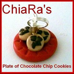 Polymer Clay  Chocolate Chip Cookies for by CharmthisClayCharms, $3.00