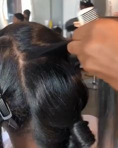 Thriving Hair Virgin Human Hair Brazilian Silky Straight Pre-Plucked Full Lace Wigs hairstyls for black women # straight Hairstyles for black women Try to do it❤️ Pressed Natural Hair, Natural Straight Hair, Natural Hair Styles For Black Women, Baddie Hairstyles, Ponytail Hairstyles, Straight Hairstyles, Hairstyles For Black Women, Relaxed Hairstyles, Everyday Hairstyles