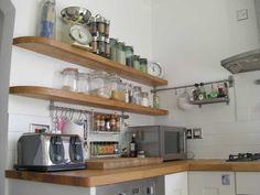 Kitschy kitchen... Ikea Floating Shelves Kitchen
