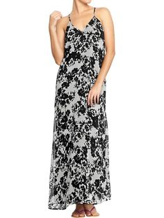 Old Navy | Women's Printed Chiffon Maxi Dresses
