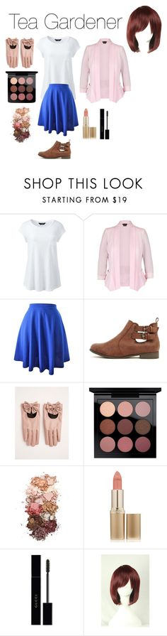 """""""Tea Gardener From Yugioh Classic"""" by tori-camilleri on Polyvore featuring Lands' End, City Chic, Torrid, MAC Cosmetics, Sigma, L'Oréal Paris, Gucci, WithChic and plus size clothing"""