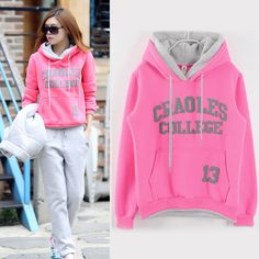 Find More Hoodies & Sweatshirts Information about Women Letter Printing Hooded Sweatshirts Long Sleeve Pullover Sweatshirt Fashion Loose Casual Hoodies Female Korean Version 9037,High Quality hoodies polo,China sweatshirt manufacturer Suppliers, Cheap sweatshirt jacket from Laisiyi Garment Factory- Dennis on Aliexpress.com
