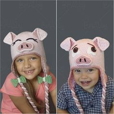 THIS IS A PDF PATTERN AND NOT A PHYSICAL PRODUCT! This pattern will help you create the perfect beanie for all the pig lovers in your life! Use your pig hat pattern to create an adorable Halloween costume or simply a sweet winter hat. Options are provided to make your pigs with either open