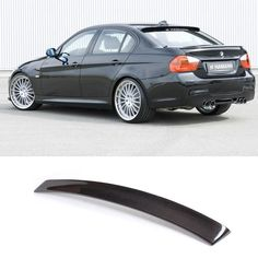 E90 HM Styling Carbon Fiber  Rear Roof  Lip Wing Spoiler  for BMW 2005-2012