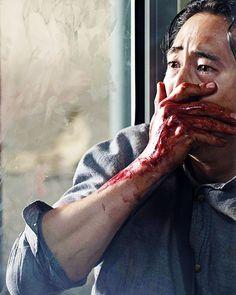 """The Walking Dead 5x14 """"Spend"""" Glenn Rhee this scene... Glenn couldn't do anything"""