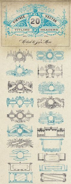Graphic Design - Graphic Design Ideas - Vintage Vector Titling Headers by Eclectic Anthology on Creative Market Graphic Design Ideas : – Picture : – Description Vintage Vector Titling Headers by Eclectic Anthology on Creative Market -Read More – Art Clipart, Badge Template, Clip Art, Vintage Graphic Design, Perfectly Imperfect, Vector Graphics, Graphics Vintage, Logo Design, Design Art