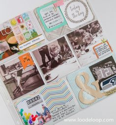Project Life   Week Three www.loodeloop.com Studio Calico, Becky Higgins Coral Edition Project Life