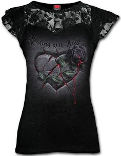 Top Resting with Angels  #spiral #corazon #heart #roses #rosas #sangre #blood #goth #ropa #gotica #xtremonline