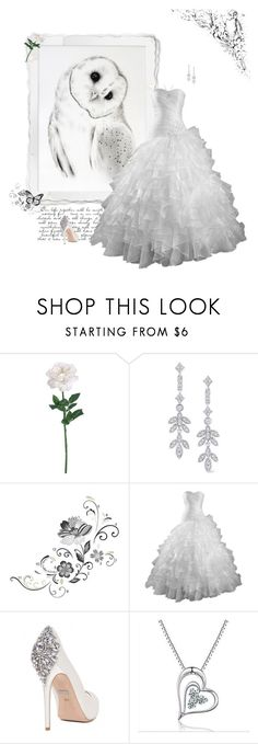 """Owl"" by greerflower ❤ liked on Polyvore featuring KC Designs, York Wallcoverings, Badgley Mischka and MaBelle"