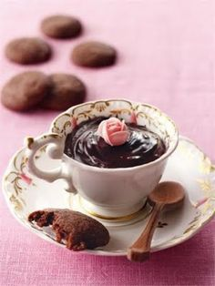 Serve choc mousse or a cupcake in a teacup!!!
