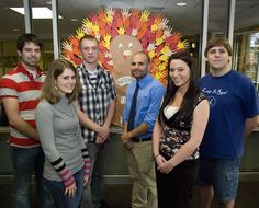 """Marywood University's Student Government Association (SGA) sponsored the """"Helping Hands Turkey"""" fundraiser to benefit the United Way of Wayne and Lackawanna Counties.  The SGA sold the paper cut-out hands for $1 to the campus community. They collected over $200."""
