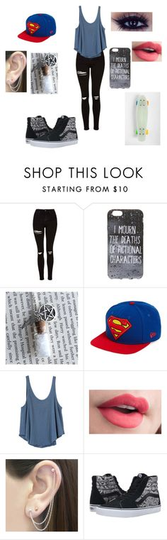 """""""Untitled #273"""" by pufferfishgal on Polyvore featuring Topshop, Urban Outfitters, New Era, RVCA, Otis Jaxon and Vans"""