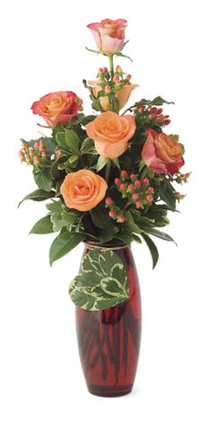 Valentine's Day Flower Arrangements | Carve out a cardboard in the shape of a heart and glue attractive ...