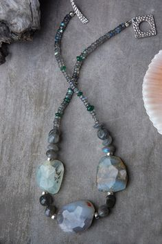 Night+Sea++Peruvian+Opal+Necklace++by+LaughingDogStudio+on+Etsy,+$101.00