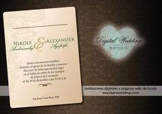 Invitaciones digitales con confirmación en línea y páginas web de boda  E-mail: info@digitalweddingcr.com