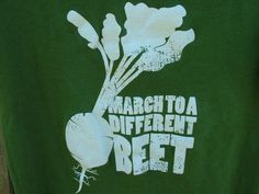 "Green ""March To A Different Beet"" Childrens Organic T-Shirt"
