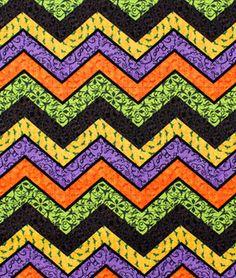 Springs Creative Halloween Chevron Fabric - $7.1   onlinefabricstore.net