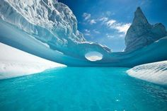 Antartica - this almost looks like lagoon water