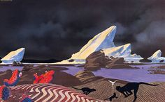 The Roger Dean artwork to the Yes album 'Drama' (1980)