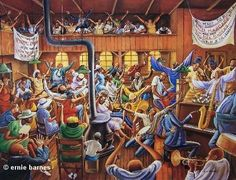 Solid Rock Congregation - 24x32 print - Ernie Barnes – It's A Black Thang.com