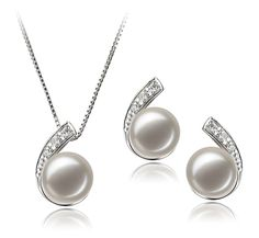 White 7-8mm AA Quality Freshwater 925 Sterling Silver Cultured Pearl Set *** Read more reviews of the product by visiting the link on the image.