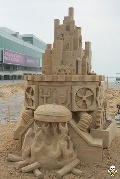 Brian Tournbough #Sand #Sculpture #Steampunk