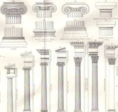 Greek Architecture Drawings the 3 orders of classical greek architecture: doric, ionic and