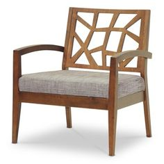Modern wooden accent chairs.