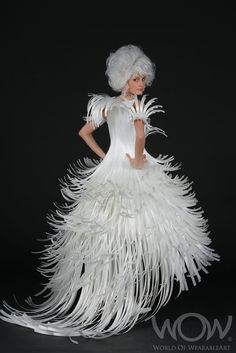 ℘ Paper Dress Prettiness ℘ art dress made of paper - Sharon Reid, New Zealand