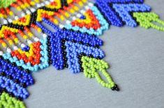 Abalotado huichol gargantilla collar africano tribal boho | Etsy Beaded Choker Necklace, Tribal Necklace, Collar Necklace, Beaded Bracelets, Bridesmaid Earrings, Bridesmaid Gifts, Collars, Collar Tribal, Beaded Collar