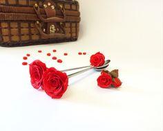 Чайная ложка с декором из полимерной глина Роза, 450₽