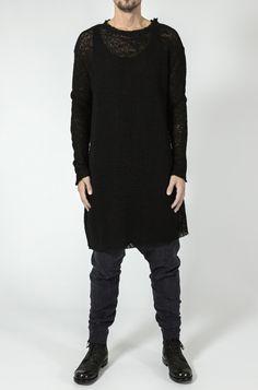 Leon Louis - Oversized raw cut wool knit sweater - orimono.eu