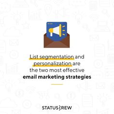 Marketers know that segmenting email marketing lists can improve open and clickthrough rates. Personalization and segmentation are impacting campaigns from increasing conversion rates to connecting with customers 🚀 - Email Marketing Strategy, Campaign, Social Media, Social Networks, Social Media Tips