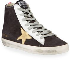 Golden Goose, Smooth Leather, Italian Leather, High Tops, High Top Sneakers, Product Launch, Lace Up, Husband, Flats