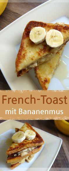 Rezept für French Toast mit Bananenmus und Honig oder Ahornsirup. Ein süßes Frühstück oder für zwischendurch. Auch den Kindern schmeckt es. Man könnte auch armer Ritter zu diesem Rezept sagen – Meine Stube #frenchtoast #frühstück