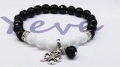 Bransoleta+Agat+Onyks+fasetowany+Kamień+8+mm+w+Yeve+jewelry+na+DaWanda.com