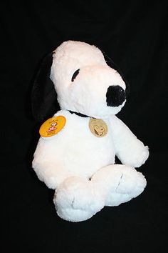 "Peanuts Snoopy Classic Dog 2009 Plush Hallmark NEW w/ Tags Stuffed Animal 14"""
