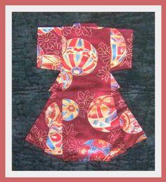 Folded Japanese Kimono quilting pattern
