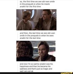 This is true except the fact is the last time Obi Wan smiled was looking at Luke and Leia leaving on The Falcon.>>> just let us think what we want General Lee, Star Wars Rebels, Star Trek, The Force Is Strong, Bad Feeling, Star Wars Humor, Love Stars, Obi Wan, Reylo