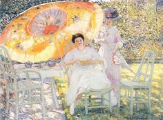 Shopping frederick carl frieseke the garden parasol painting on ...