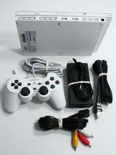 Slim White Sony Playstation 2 System!