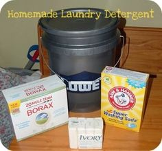 According to this you can make 5 gallons of laundry soap for $13! Might not be a bad idea to save some money!
