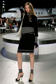 NWT EXQUISITE CHANEL RUNWAY CASHMERE BLEND 2PC PLANE SKIRT AND SWEATER 40 MED Find awesome separates at great prices at my online store: http://www.stores.ebay.com/dressredress
