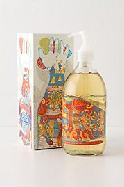 hand soap in cool bottle (anthropologie)