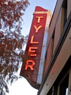 Tyler Theater neon sign, Tyler, Texas
