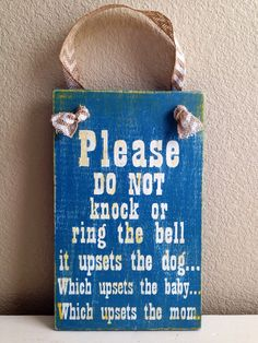 Kids sleeping front door sign Please do not by CopperCoilInteriors, $30.00