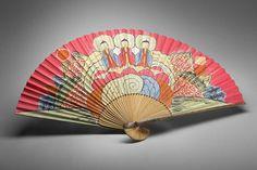 Shaman's fan (musǒn), ca. 1890 Artist not identified Japan paper, bamboo, pigments, metal