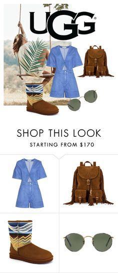 """a little bit of UGG love"" by liekejongman on Polyvore featuring UGG Australia, STELLA McCARTNEY, Yves Saint Laurent and Ray-Ban"