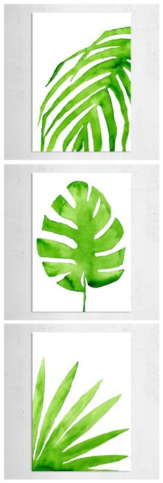 Amazing art prints on metal by Elin Hjulstrom Lord. Green watercolor illustrations to give your home a natural look. Click through to see similar artworks from the GREENERY collection on Displate!